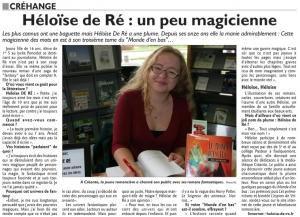 Héloïse De Ré, article RL médiathèque de Créhange