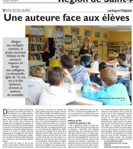 Héloïse De Ré, Republicain Lorrain, article du 12 mai