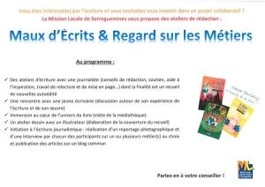 Héloïse De Ré, projet «Maux d'écrits», Mission Locale Sarreguemines