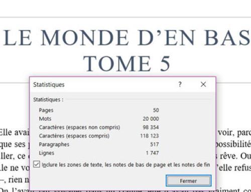 50 pages et 20 000 mots pour le tome 5 !