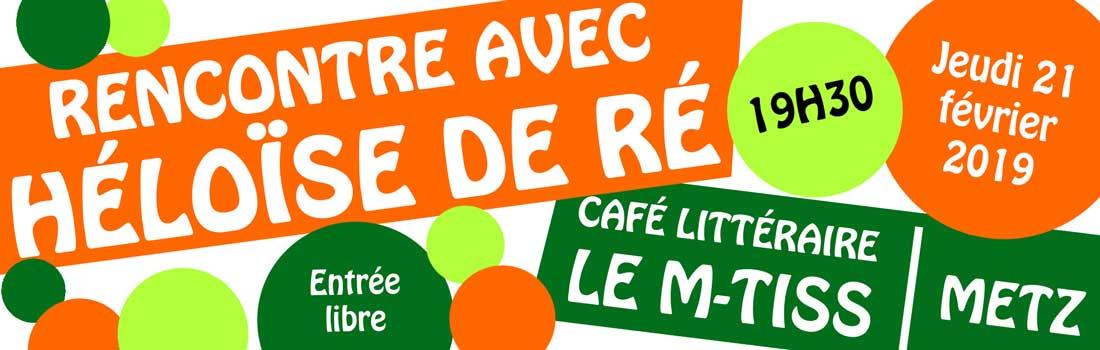 M-Tiss Café Littéraire : rencontre et dédicace !